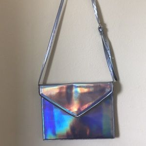 Colorful metallic adjustable and removable purse